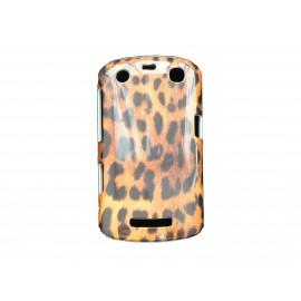 Coque pour Blackberry Curve 9350/9360/9370 léopard orange + film protection écran offert