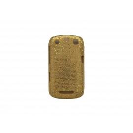 Coque pour Blackberry Curve 9350/9360/9370 paillettes couleur or + film protection écran offert