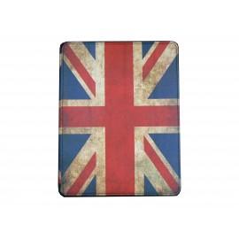 Pochette Ipad 2/3 vintage drapeau UK/Angleterre version 4+ film protection écran