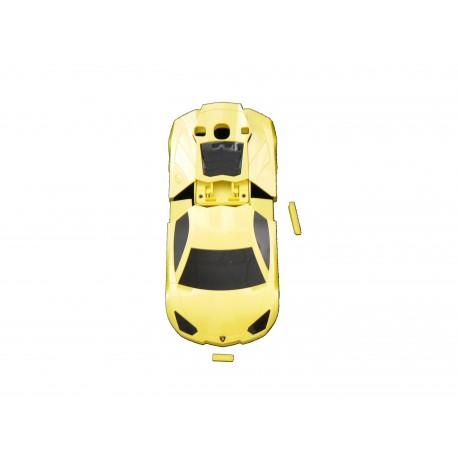 Coque pour Samsung I9300 Galaxy S3 voiture jaune + film protection écran offert