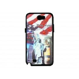 Coque pour Samsung Galaxy Note 2 - N7100 drapeau Etats-Unis/USA New-York + film protection écran offert