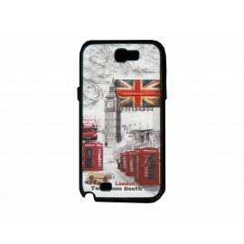 Coque pour Samsung Galaxy Note 2 - N7100 drapeau Angleterre/UK Londres + film protection écran offert