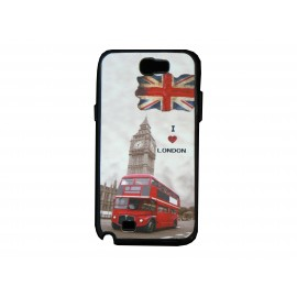 Coque pour Samsung Galaxy Note 2 - N7100 drapeau Angleterre/UK I love London + film protection écran offert