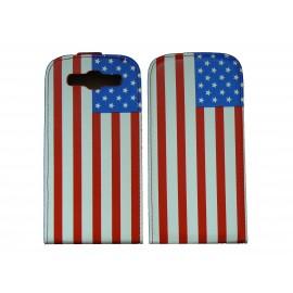 Pochette pour Samsung I9300 Galaxy S3 simili-cuir drapeau USA/Etats-Unis + film protectin écran