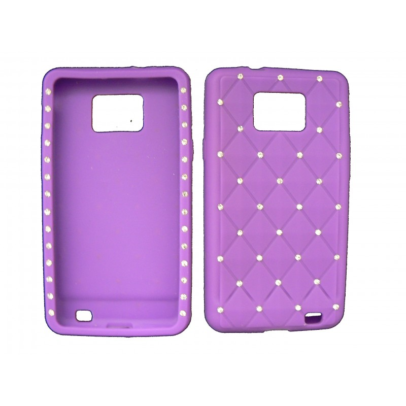 coque pour samsung i9100 galaxy s2 silicone violette. Black Bedroom Furniture Sets. Home Design Ideas