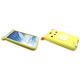 Coque pour Samsung Galaxy Note 2 - N7100  silicone koala jaune claire + film protection écran offert