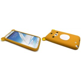 Coque pour Samsung Galaxy Note 2 - N7100 silicone koala marron + film protection écran offert