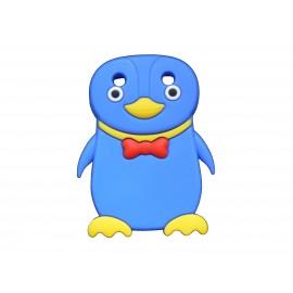 Coque pour Blackberry Curve 9320 silicone pingouin bleu nœud papillon rouge + film protection écran offert