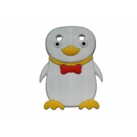 Coque pour Blackberry Curve 9320 silicone pingouin blanc nœud papillon rouge + film protection écran offert