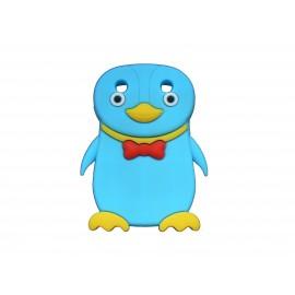 Coque pour Blackberry Curve 9320 silicone pingouin bleu turquoise nœud papillon rouge + film protection écran offert