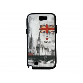 Coque pour Samsung Galaxy Note 2 - N7100  drapeau Angleterre/UK Westminster  + film protection écran offert