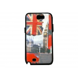 Coque pour Samsung Galaxy Note 2 - N7100 drapeau Angleterre/UK Big Ben version 2 + film protection écran offert