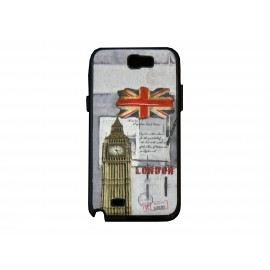 Coque pour Samsung Galaxy Note 2 - N7100 drapeau Angleterre/UK Big Ben version 3 + film protection écran offert