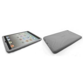 Coque silicone pour Ipad Mini grise + film protection écran offert