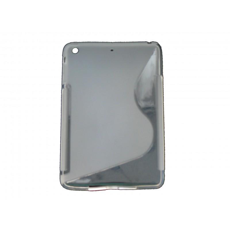 coque silicone pour ipad mini s grise film protection cran offert. Black Bedroom Furniture Sets. Home Design Ideas
