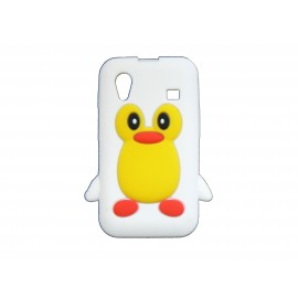 Coque pour Samsung S5830 Galaxy Ace silicone pingouin blanc + film protection écran offert