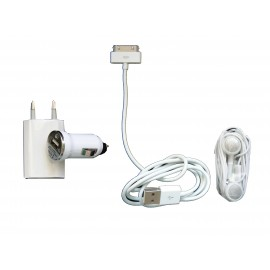 Pack chargeur 4 en 1 pour Iphone et Ipod
