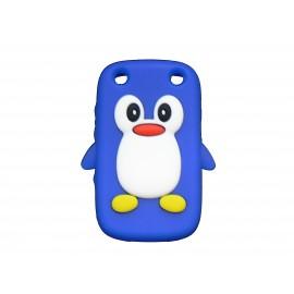 Coque pour Blackberry Curve 9320 silicone pingouin bleu + film protection écran offert