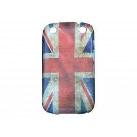 Coque pour Blackberry Curve 9320 drapeau Angleterre/UK vintage + film protection écran offert