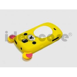 Coque pour Samsung Galaxy Mini S5570 silicone koala jaune + film protection écran offert