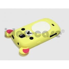 Coque pour Samsung Galaxy Mini S5570 silicone koala jaune clair + film protection écran offert