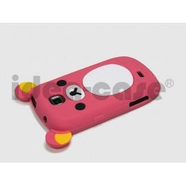 Coque pour Samsung Galaxy Mini S5570 silicone koala rose fuschia + film protection écran offert