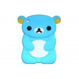 Coque silicone pour Ipad Mini koala bleu turquoise+ film protection écran offert