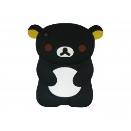 Coque silicone pour Ipad Mini koala noir+ film protection écran offert