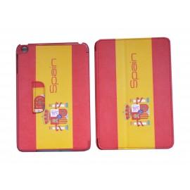 Pochette Ipad Mini drapeau Espagne + film protection écran offert