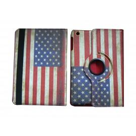 Pochette Ipad Mini drapeau USA vintage version 2 + film protection écran offert