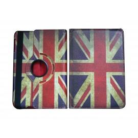 Pochette Ipad Mini drapeau Angeleterre/UK vintage version 2 + film protection écran offert