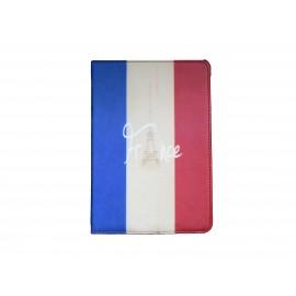 Pochette Ipad Mini drapeau France vintage version 2 + film protection écran offert