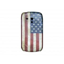 Coque pour Samsung Galaxy S3 Mini/ I8190 USA/Etats-Unis vintage+ film protection écran offert