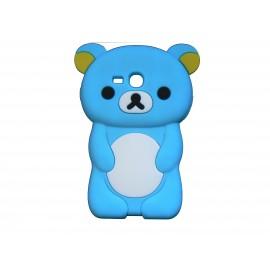 Coque silicone pour Samsung Galaxy S3 Mini/ I8190 ourson bleu turquoise + film protection écran offert