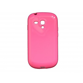 Coque pour Samsung Galaxy S3 Mini/ I8190 en silicone glossy rose + film protection écran offert