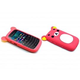 Coque pour Blackberry Curve 9320 silicone koala rose fuschia + film protection écran offert
