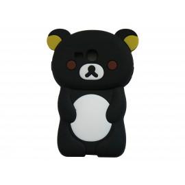 Coque silicone pour Samsung Galaxy S3 Mini/ I8190 ourson noir + film protection écran offert