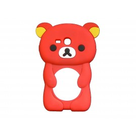 Coque silicone pour Samsung Galaxy S3 Mini/ I8190 ourson rouge + film protection écran offert