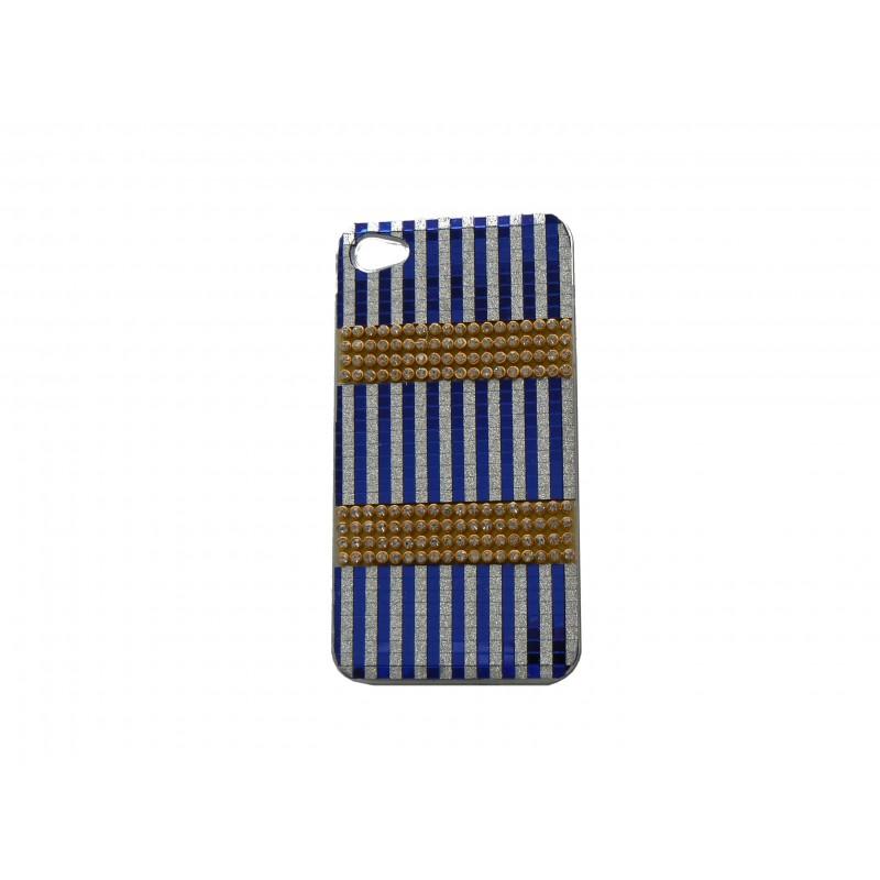 coque pour iphone 4s strass diamant et paillettes bleues. Black Bedroom Furniture Sets. Home Design Ideas