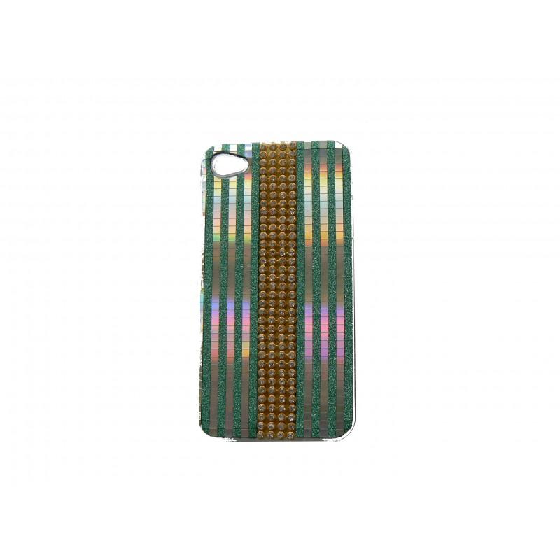 coque pour iphone 4s strass diamant et paillettes vertes