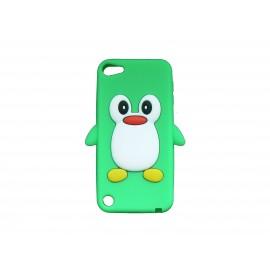 Coque silicone pour Ipod Touch 5 pingouin vert + film protection écran
