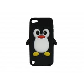 Coque silicone pour Ipod Touch 5 pingouin noir + film protection écran