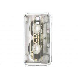 Coque pour Samsung Galaxy S4 / I9500 cassette grise + film protection écran offert