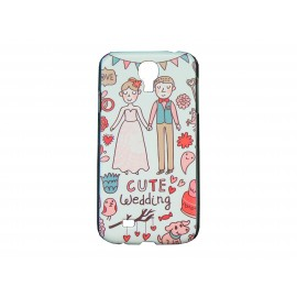 Coque  pour Samsung Galaxy S4 / I9500 mariage + film protection écran offert