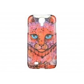 Coque pour Samsung Galaxy S4 / I9500 chat rouge yeux bleus + film protection écran offert