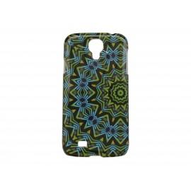 Coque  pour Samsung Galaxy S4 / I9500 noire verte bleue + film protection écran offert