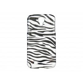 Coque pour Samsung Galaxy S4 / I9500 zèbre noire et blanche + film protection écran offert