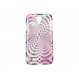 Coque pour Samsung Galaxy S4 / I9500 multicolore rose noire + film protection écran offert