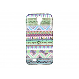 Coque pour Samsung Galaxy S4 / I9500 Maya bleue turquoise + film protection écran offert