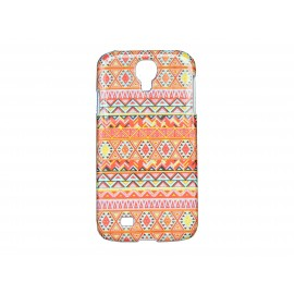 Coque  pour Samsung Galaxy S4 / I9500 Maya rouge + film protection écran offert